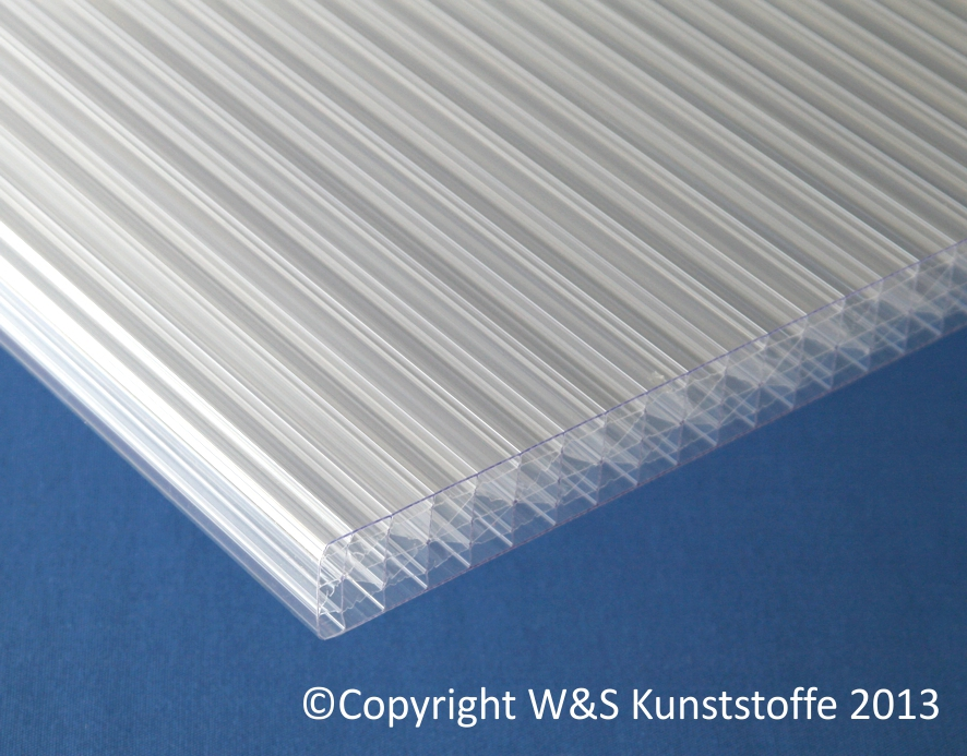 polycarbonat stegplatten 32mm 7 fach klar ebay. Black Bedroom Furniture Sets. Home Design Ideas