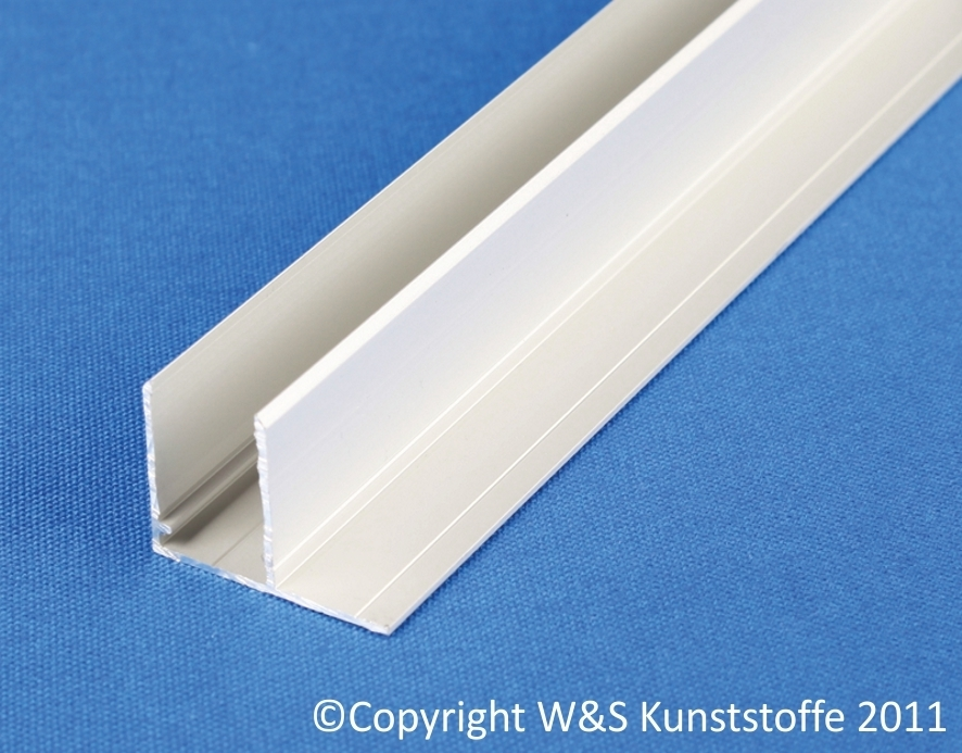 aluminium u profil befestigungslasche quer silber eloxiert ebay. Black Bedroom Furniture Sets. Home Design Ideas