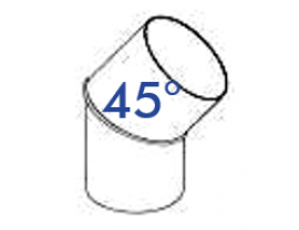PVC-Rohrbogen 45°