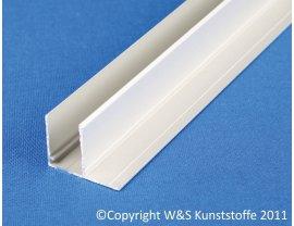 Aluminium U-Profil mit Befestigungslasche quer