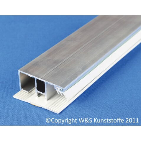Deckprofil Rand für Doppelstegplatten 16mm