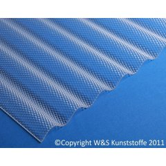 Polycarbonat Wellplatten Wabenstruktur klar