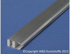 Alu Thermo-Schraubprofil Rand für 16mm & 32mm Stegplatten