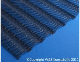 Highlux ® Acrylglas Wellplatten 76/18 Wabenstruktur graphit 3mm