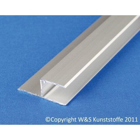 Aluminium U-Profil mit Befestigungslasche längs