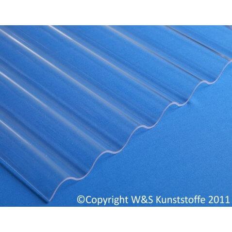 Acrylglas Wellplatten glasklar glatt