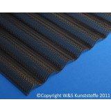 Polycarbonat Wellplatten 76/18 Wabenstruktur rauchbraun 3mm