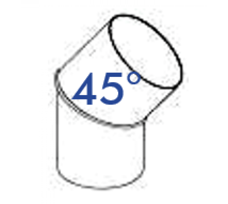 PVC Rohrbogen 45 Grad