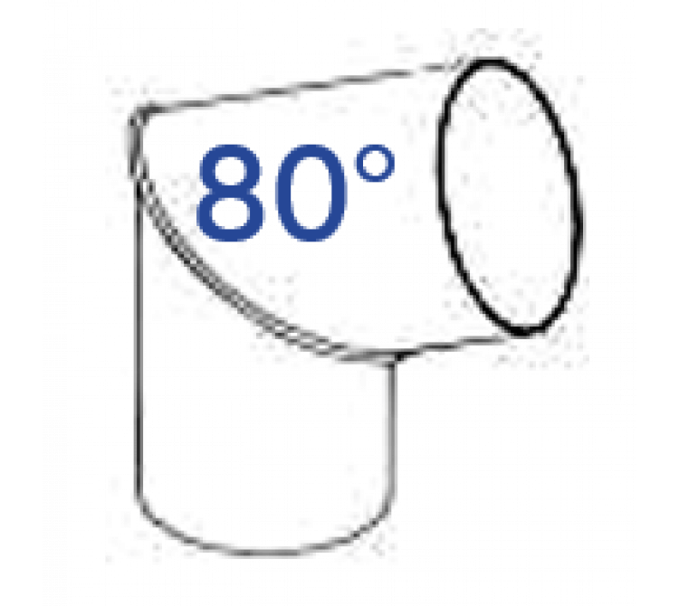 PVC Rohrbogen 80 Grad