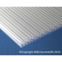 Polycarbonat Doppelstegplatten 32mm 7-fach klar