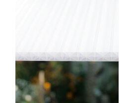 Polycarbonat Doppelstegplatten X-Struktur opal-weiß 16mm