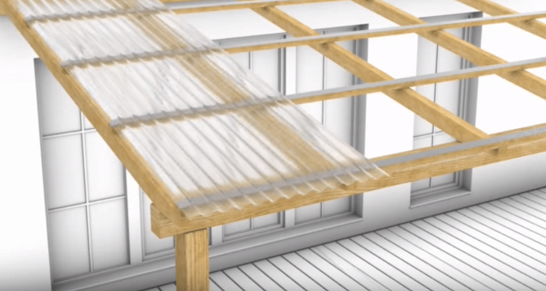 Unterkonstruktion für Wellplatten