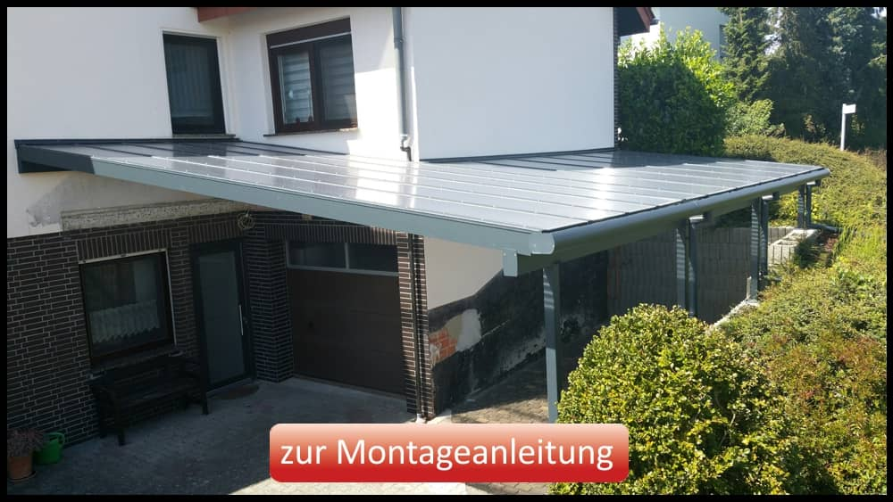 "Komplettsystem ""Easy Roof"" als Carport"