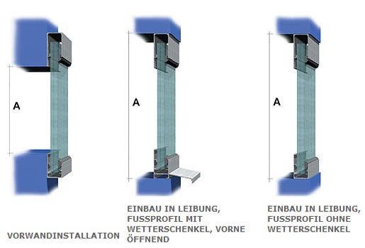 Montagemöglichkeiten für Hohlkammerpaneele arcoPlus