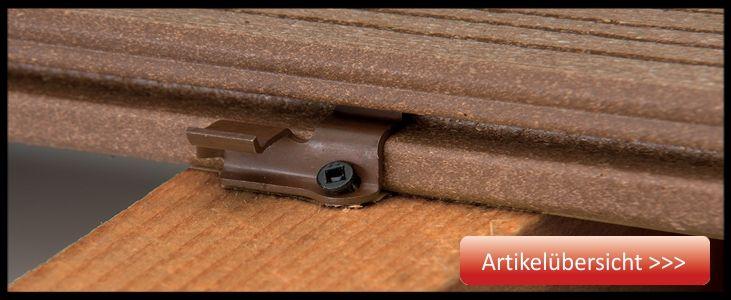 WPC-Zubehör für Holz Unterkonstruktion