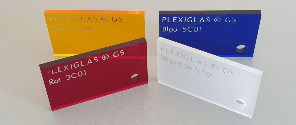 Plexiglas® farbig