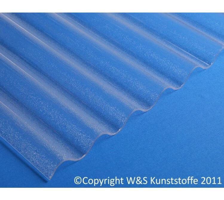 Acrylglas Wellplatten C-Struktur klar