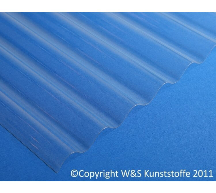 Polycarbonat Wellplatten sinus 1mm klar