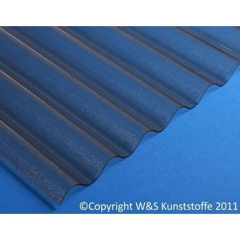 Acrylglas Wellplatten C-Struktur rauchbraun