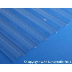 Polycarbonat Wellplatten trapez klar 1mm