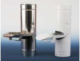 Aluminium Regenwasserklappe mit Laubfang