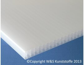 Polycarbonat Stegplatten 32mm 7-fach opal-weiß
