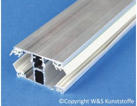 Alu Schraubprofil Mitte für 16 mm Stegplatten
