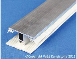 Alu Deckprofil Mitte mit Unterleggummi für 16mm Stegplatten