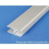Aluminium H-Profil für Stegplatten