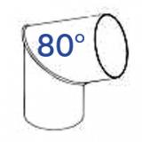 PVC-Rohrbogen 80°