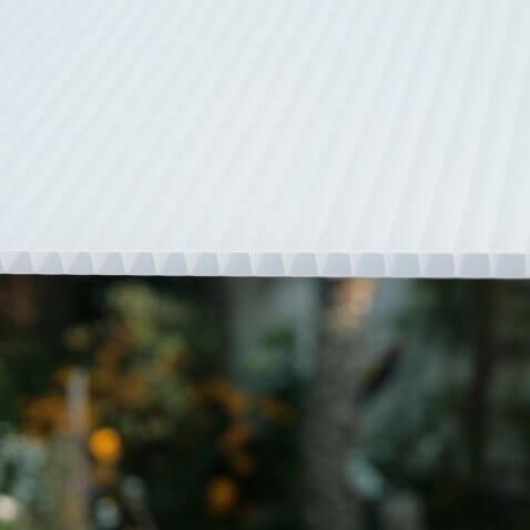 Struktur 10mm Doppelstegplatte opal