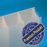 "Plexiglas ® Stegplatten 5-fach 32mm ""Cool Blue / Heatstop"" (no drop)"