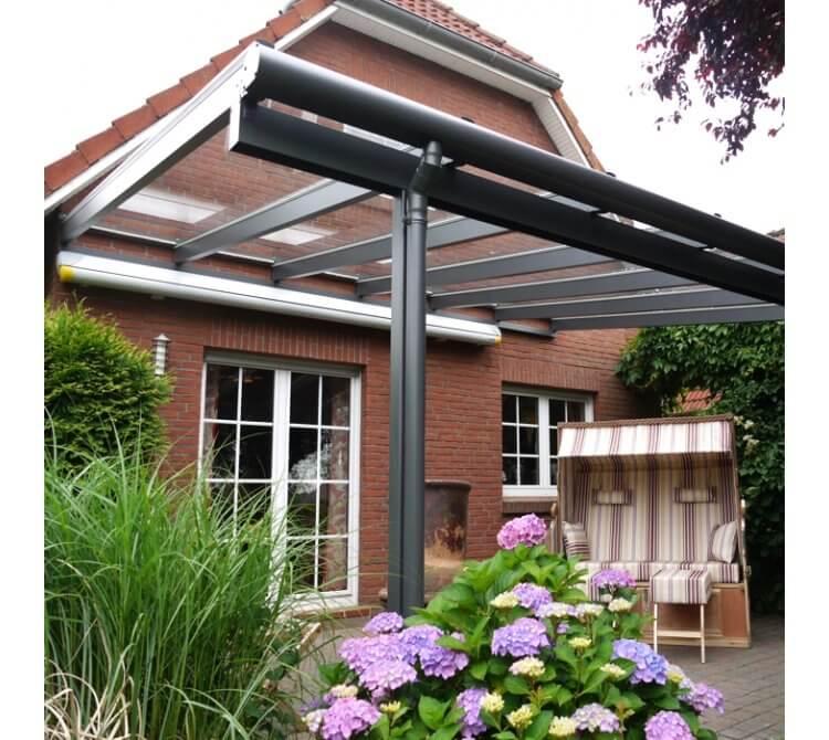 Aluminium Terrassenüberdachung Beispiel 2 anthrazit