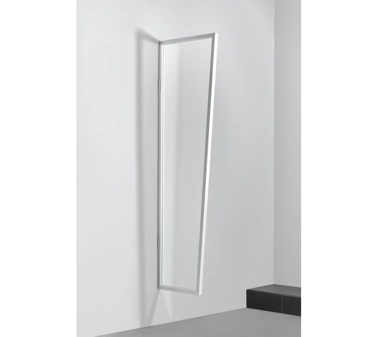 Seitenblende B1, weiß, Acrylglas klar