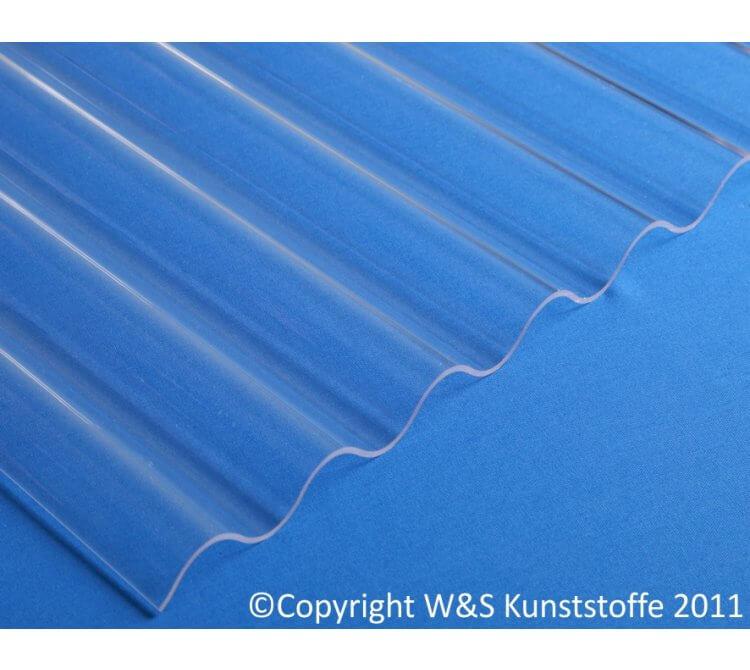 Polycarbonat Wellplatte glasklar glatt