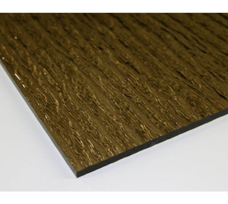 Acrylglas Massivplatte Baumrinde / Nigeria braun