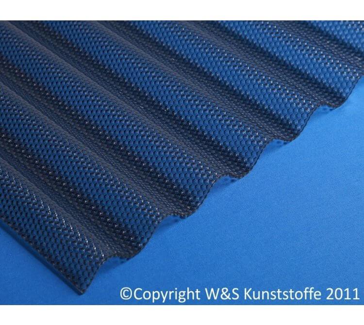 Acrylglas Wellplatten Wabenstruktur graphit