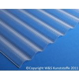 Highlux ® Acrylglas Wellplatten 76/18 Wabenstruktur klar 3mm