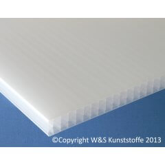 Polycarbonat Stegplatte 32mm 7-fach opal-weiß