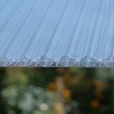 Polycarbonat Doppelstegplatten X-Struktur klar 16mm
