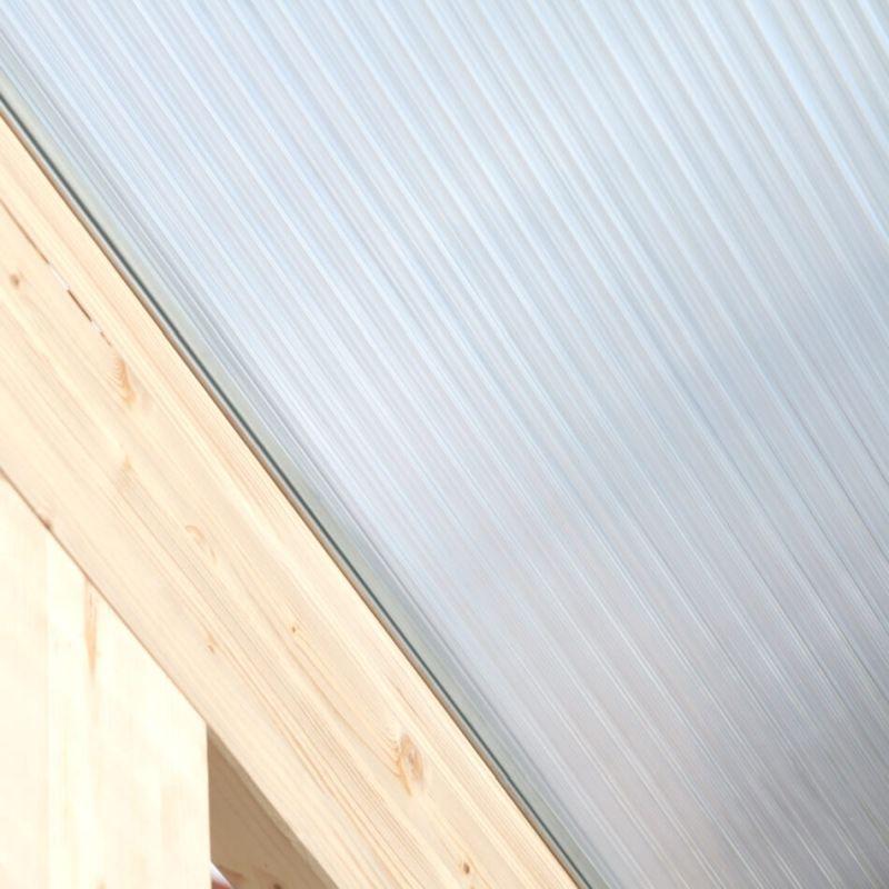 Lichtbrechung der Doppelstegplatte mit X Struktur
