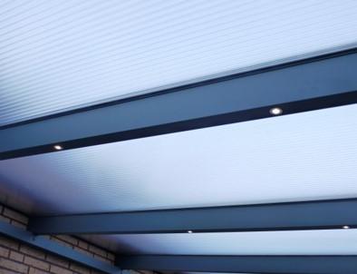 Terrassendach Magnolia mit LED Spots