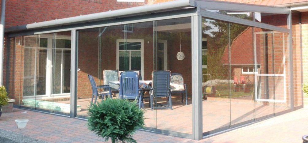 Terrassendach Magnolia mit Glasschiebetürsystem