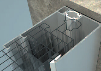 Wandprofil für Hohlkammerpaneele arcoPlus